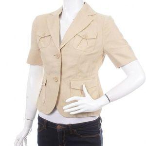 Banana Republic Linen & Silk 4 Pocket Blazer